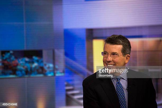 Robert 'Bob' Diamond founding partner and chief executive officer of Atlas Merchant Capital LLC smiles during a Bloomberg Television interview in New...