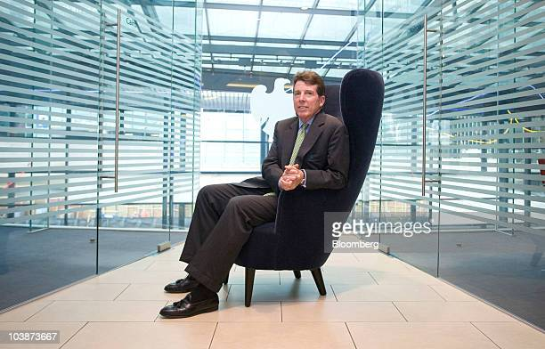 Robert Bob Diamond president and incoming chief executive officer of Barclays Plcposes for a photograph at the company headquarters in Canary Wharf...