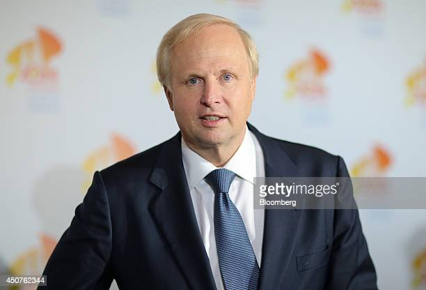 Robert 'Bob' Dudley chief executive officer of BP Plc speaks during a news conference at the 21st World Petroleum Congress in Moscow Russia on...