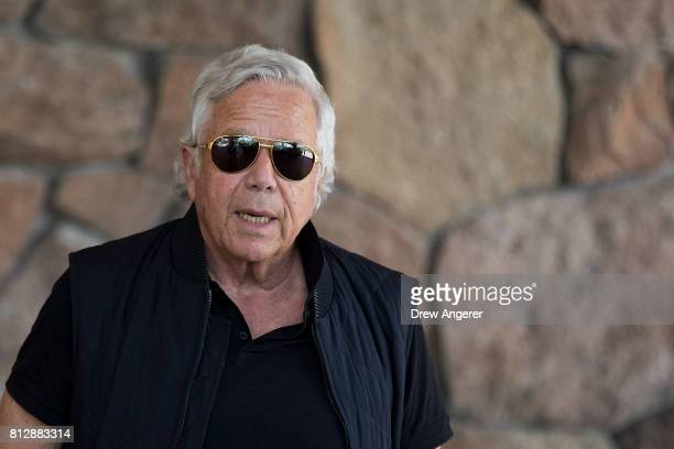 Robert 'Bob' Kraft businessman and owner of the New England Patriots football team arrives for the first day of the annual Allen Company Sun Valley...