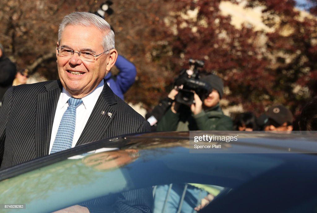 Robert 'Bob' Menendez (D-NJ) gets into his car as he departs federal court, November 15, 2017 in Newark, New Jersey. The jury continues to deliberate in his corruption trial.