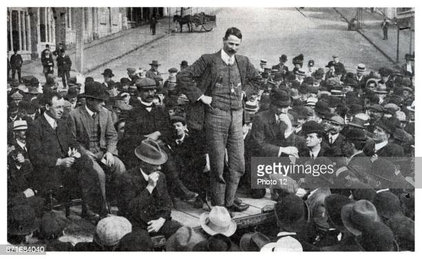 Robert 'Bob' Semple union leader and later Minister of Public Works for the first Labour Government of New Zealand Robert Semple speaking at the foot...