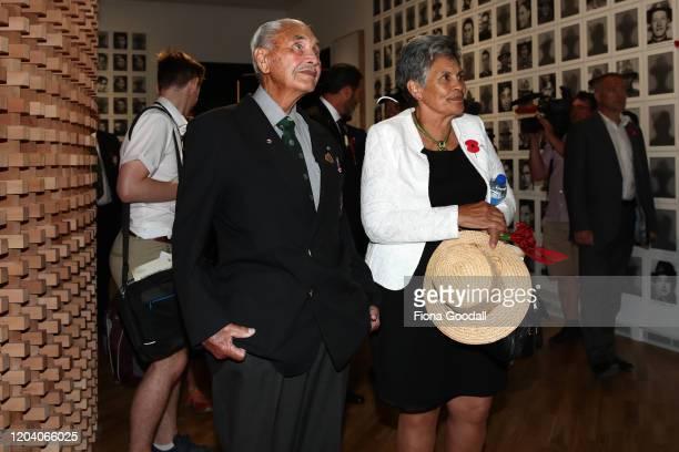 Robert Bom Gillies one of only two surviving members of the Maori Battalion inside Te Rau Aroha on February 05 2020 in Waitangi New Zealand The $146...