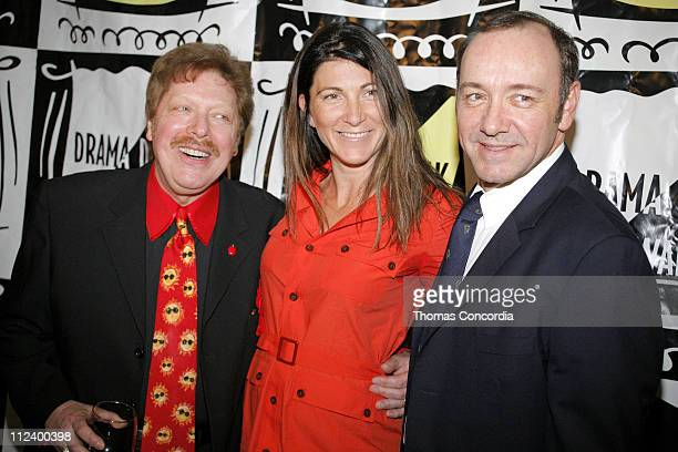 Robert Boothe Eve Best and Kevin Spacey during Drama Desk Cocktail Reception for Nominees May 1 2007 at Arte' Cafe in New York City New York United...