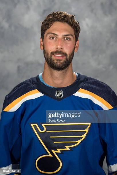 Robert Bortuzzo of the St Louis Blues poses for his official headshot for the 20182019 season on September 13 2018 in St Louis Missouri