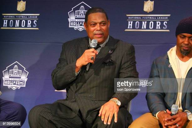 Robert Brazile selected to the Pro Football Hall of Fame at NFL Honors during Super Bowl LII week on February 3 at Northrop at the University of...