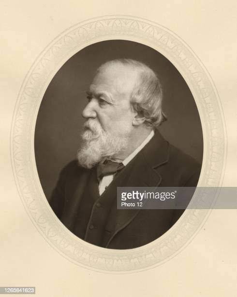 """Robert Browning English poet and dramatist. Photograph from """"Men of Mark"""", London c.1880. Woodburytype."""