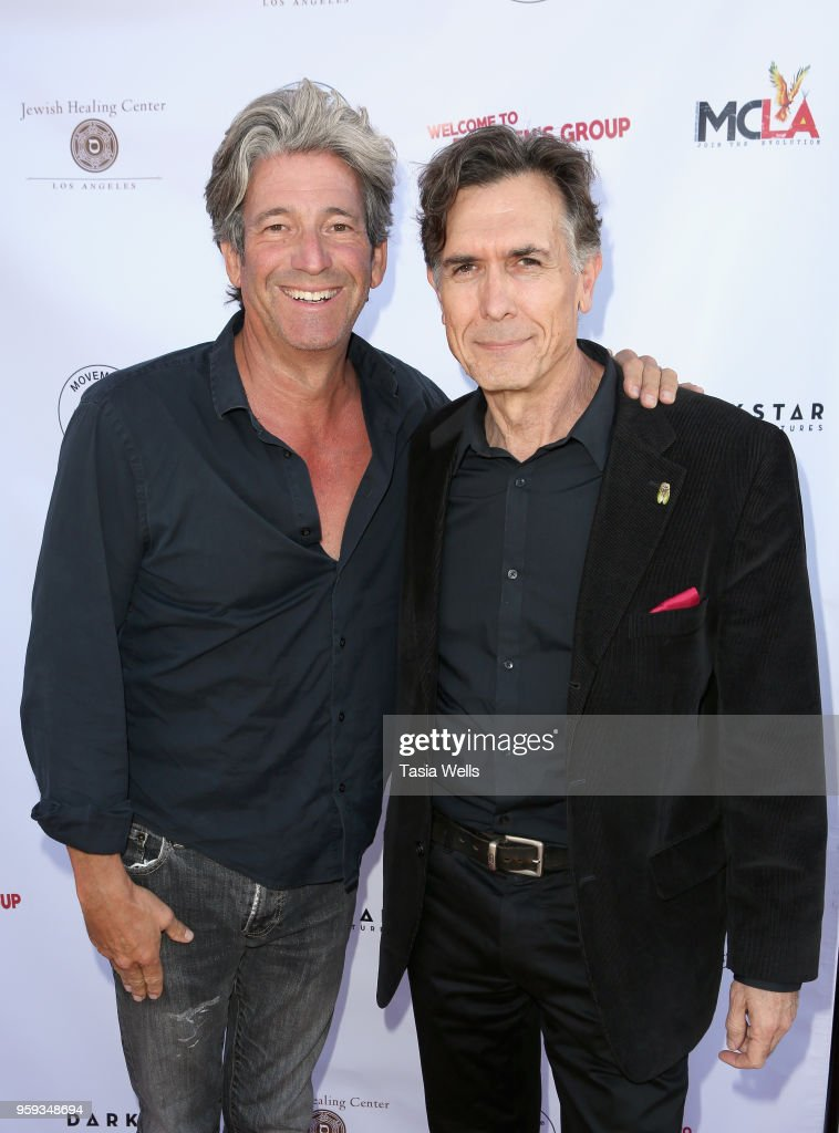 Robert Bruce (L) and Joseph Culp attend the premiere of Dark Star Pictures' 'Welcome to the Men's Group' at Ahrya Fine Arts Theater on May 16, 2018 in Beverly Hills, California.
