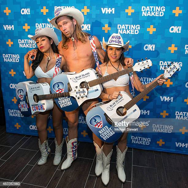 Robert Burck aka The Naked Cowboy attends the 'Dating Naked' series premiere at Gansevoort Park Avenue on July 16 2014 in New York City
