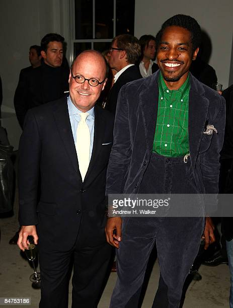 Robert Burke and Benjamin Bixby designer Andre Benjamin attend the GQ CFDA 2009 'Best New Menswear Designers' Party at Eres boutique on February 11...