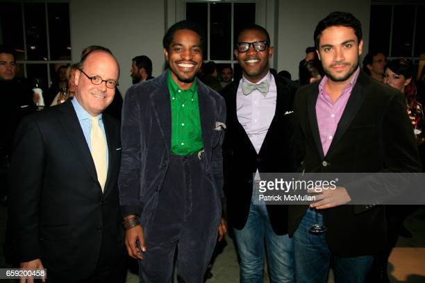 Robert Burke Andre '300' Benjamin Kwesi Blair and George Sotelo attend GQ/CFDA Honor Second Annual 'Best New Menswear Designer in America' Finalists...