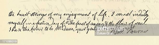 Robert Burns' autograph letter to Mrs Frances Anna Dunlop National poet of Scotland 1788 25 January 1759 21 July 1796