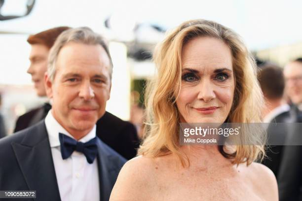 Robert C Treveiler and Lisa Emery attend the 25th Annual Screen Actors Guild Awards at The Shrine Auditorium on January 27 2019 in Los Angeles...