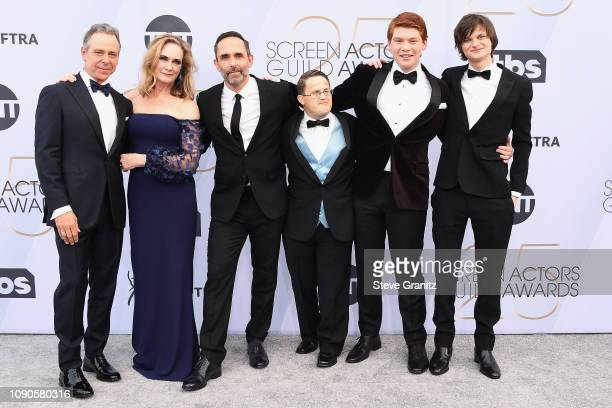 Robert C Treveiler Lisa EmeryTrevor Long George Vourazeris Carson Holmes and Charlie Tahan attend the 25th Annual Screen ActorsGuild Awards at The...