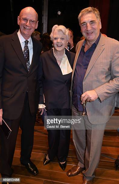Robert Callely Dame Angela Lansbury and Jim Carter attend a post show drinks reception on stage following the press night performance of Gypsy at The...