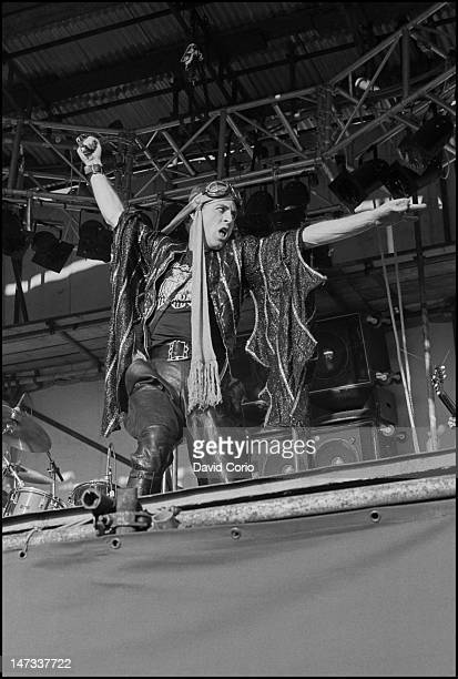 Robert Calvert of Hawkwind performs on stage at Reading Festival Reading UK 28th August 1977