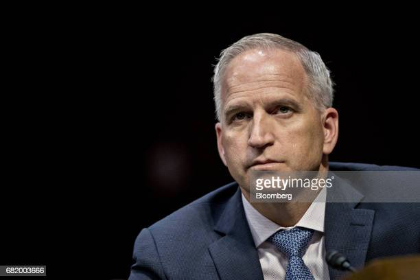 Robert Cardillo director of the National GeospatialIntelligence Agency listens during a Senate Intelligence Committee hearing with Andrew McCabe...