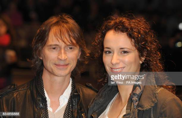 Robert Carlyle and his wife Anastasia Shirley arrive at the official screening of 'I Know You Know' at Odeon West End cinema Leicester Square London