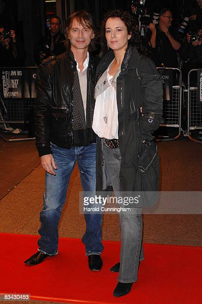 Robert Carlyle and his wife Anastasia Shirley attend the screening of 'I Know You Know' during the BFI 52nd London Film Festival at the Odeon West...