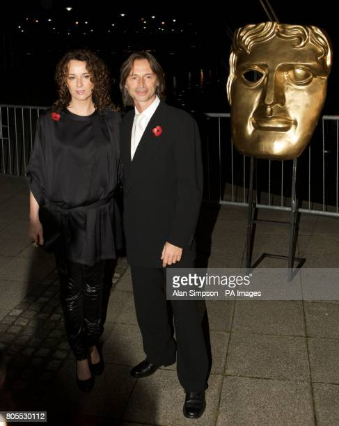 Robert Carlyle and wife Anastasia Shirley arrive at the 2009 BAFTA Scotland Awards at the Glasgow Science Centre