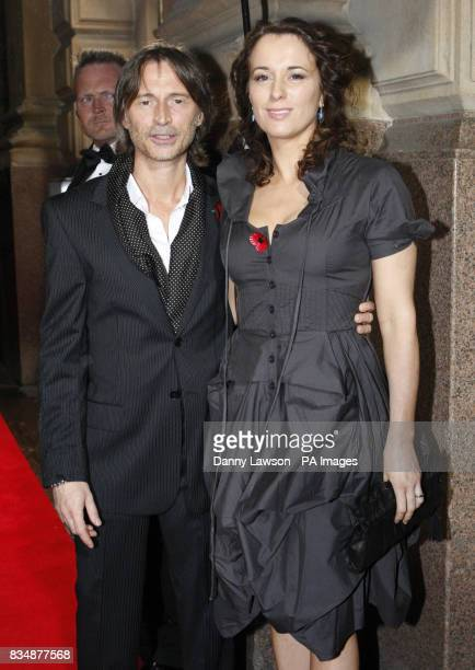 Robert Carlyle and wife Anastasia Shirley arrive at the Bafta Scotland Awards ceremony at the City Halls in Glasgow