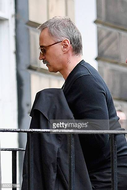 Robert Carlyle walks into a house in Royal Circus on May 17 2016 in EdinburghScotland The long awaited T2 is being filmed in Edinburgh and Glasgow 20...