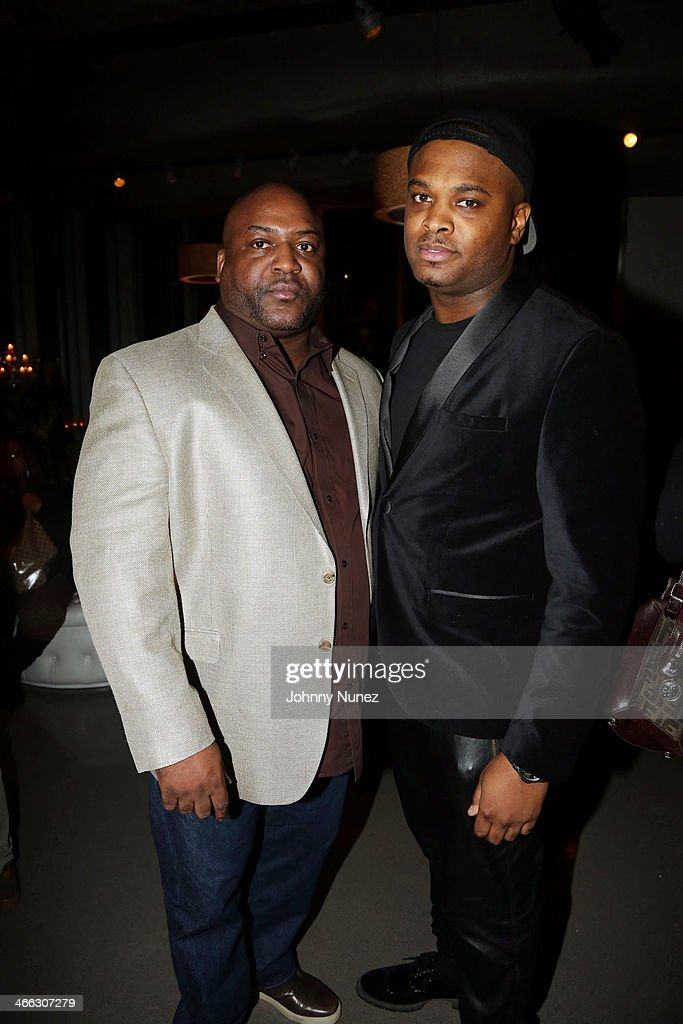 Robert Carnes Jr. and Corey Gibson attend the Just Ivy Private Showcase at The Glasshouses on January 31, 2014 in New York City.