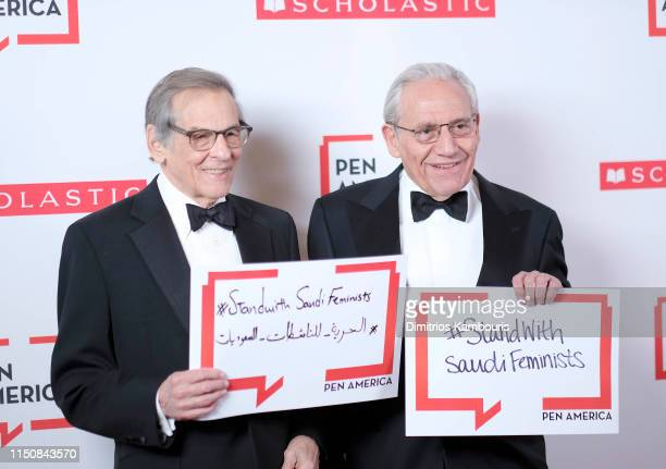 Robert Caro and Bob Woodward attend the 2019 PEN America Literary Gala at American Museum of Natural History on May 21 2019 in New York City
