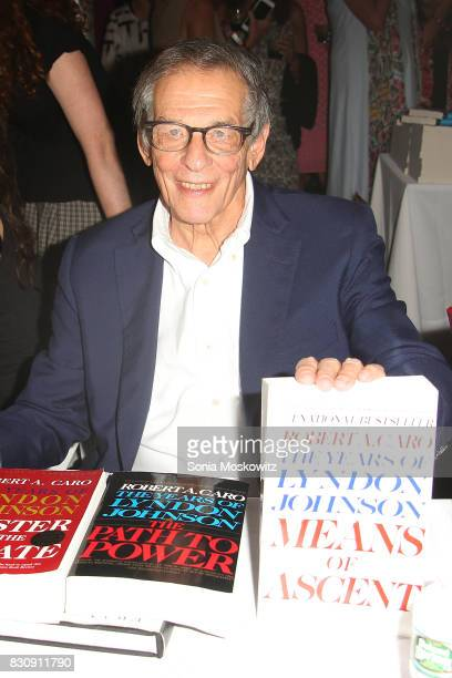 Robert Caro attends Author's Night 2017 to benefit the East Hampton Library on August 12 2017 in East Hampton New York