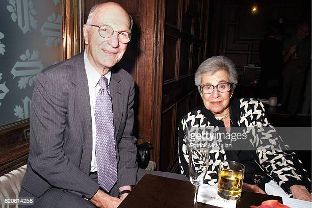 Robert Carswell and Nef Evelyn attend Presentation of the Clark Prize to PETER SCHJELDAHL at The Plaza Hotel on September 10 2008 in New York City