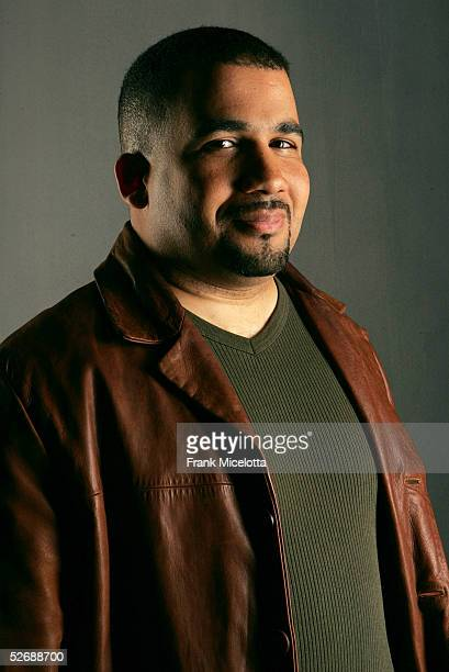 Robert Castillo filmmaker 'SPIC The Storyboard of My Life' poses for a photo at the 2005 Tribeca Film Festival Portrait Studio held at the Tribeca...