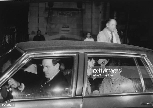 Robert Chambers and his mother Phyllis prepare to leave car parked near their townhouse following announcement of Robert's plea bargain to a lesser...