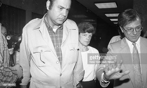 Robert Chambers and Phyllis Chambers parents of Robert Chambers Jr leave court