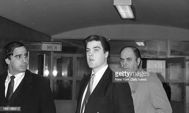 Robert Chambers arrives at Manhattan Supreme Court with father Robert Sr His murder trial in the strangulation of Jennifer Levin was postponed until...