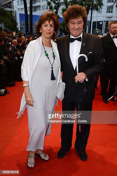"""Robert Charlebois and his wife at the premiere for """"Amour"""" during the 65th Cannes International Film Festival."""