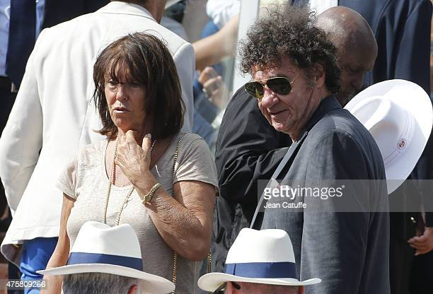 Robert Charlebois and his wife Laurence Charlebois attend day 10 of the French Open 2015 at Roland Garros stadium on June 2 2015 in Paris France