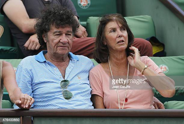 Robert Charlebois and his wife Laurence Charlebois attend day 13 of the French Open 2015 at Roland Garros stadium on June 5 2015 in Paris France