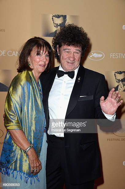 Robert Charlebois and his wife Laurence Charlebois attend the Opening Ceremony dinner during the 67th Annual Cannes Film Festival on May 14 2014 in...