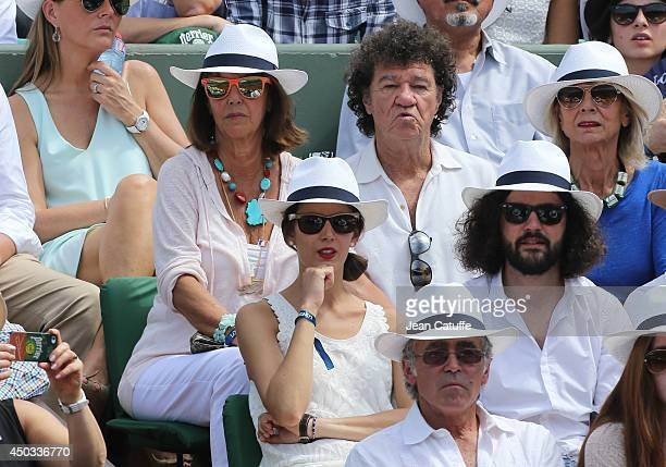 Robert Charlebois and his wife Laurence Charlebois attend the women's final of the French Open 2014 held at RolandGarros stadium on June 7 2014 in...