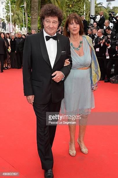 Robert Charlebois and Laurence Charlebois attend the Opening Ceremony and the Grace of Monaco premiere during the 67th Annual Cannes Film Festival on...