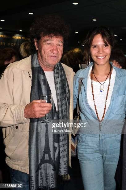 Robert Charlebois and Vanille Clerc attend the Et Pof Muriel Robin One Woman Show At Palais Des Sports on October 03 2019 in Paris France