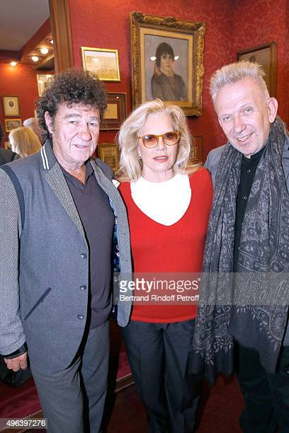 Robert Charlebois Sylvie Vartan and Fashion Designer JeanPaul Gaultier attend Sylvie Vartan triumphs in the Theater Play 'Ne me regardez pas comme ca...