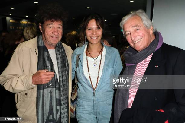 "Robert Charlebois, Vanille Clerc and Jean-Loup Dabadie attend the ""Et Pof"" Muriel Robin One Woman Show At Palais Des Sports on October 03, 2019 in..."