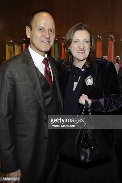 Robert Chavez and Glenda Bailey attend Opening of the First HERMES Men's Store in New York at Hermes Men's Store on February 9, 2010 in New York City.