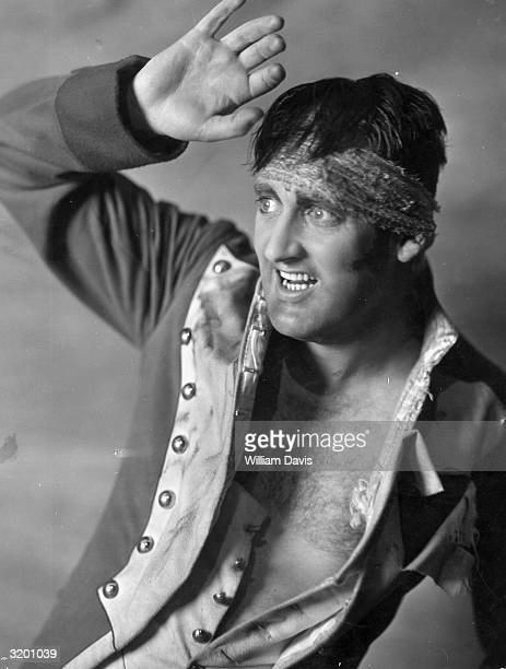 Robert Chisholm performs the song 'Le Reve Passe' in his role as a Napoleonic soldier in 'Folies Bergere' at the London Palladium.