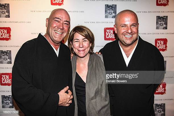Robert Chodo Campbell Jennifer Greenfield and Koshin Paley Ellison attend the 2013 Contemplative Care Awards at Rubin Museum of Art on May 21 2013 in...