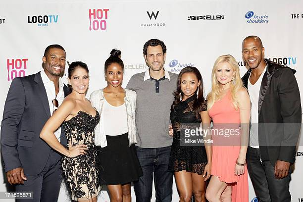 Robert Christopher Riley Valery Ortiz Taylour Paige James LaRosa Logan Browning Katherine Bailess and McKinley Freeman arrive at Logo's 'Hot 100'...
