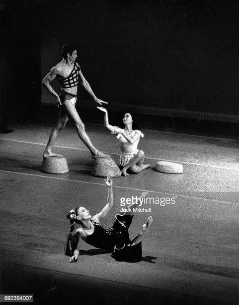 Robert Cohan Yuriko and Helen McGehee performing Martha Graham's 'Cave of the Heart' in 1964