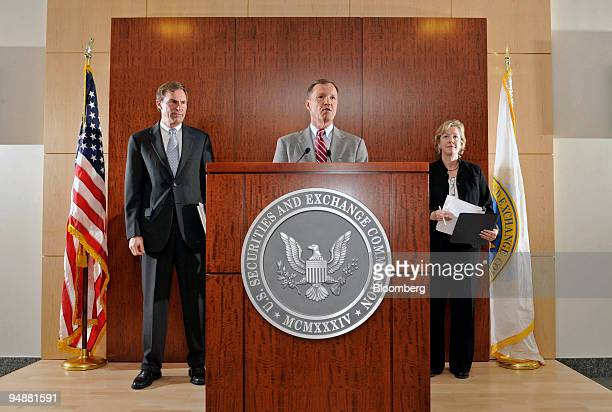 Robert Colby deputy director of the Division of Trading and Markets for the US Securities and Exchange Commission left and Lori Richards director of...