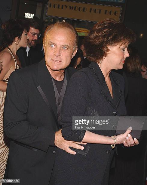 Robert Conrad and wife arriving at ABC's 50th Anniversary Celebration